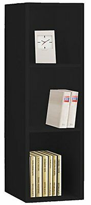 VCM Collector Shelf Mendas for 105 CDs with Wood Structure Reproduction, Black