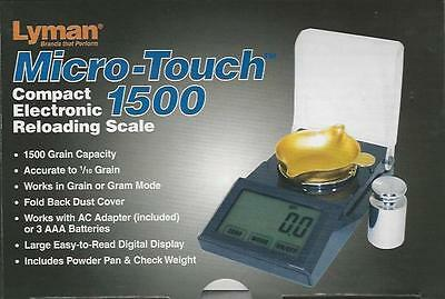Micro-Touch 1500 Compact Electronic Reloading Scale w/Calibration Weight