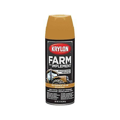 Krylon 1953 Old Cat Yellow Tractor And Implement Spray Paint Aerosol 12oz.
