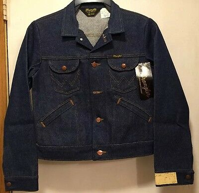 Wrangler Youth Size 16 No Fault Denim Jean Sanforized Jacket VTG 70's NWT
