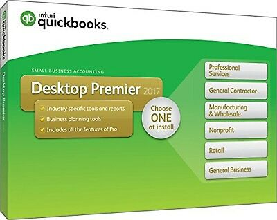 QuickBooks Desktop Premier 2017 with Industry Editions Small Business Accounting