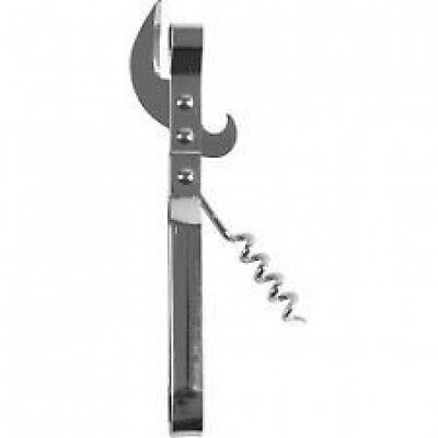 Camping CAN BOTTLE OPENER Look Style METAL OLD FASHIONED CHEF CRAFT CORK SCREW