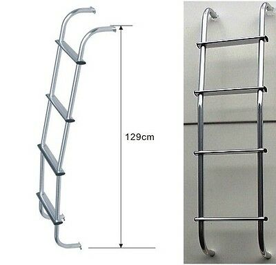 4x4 Land Rover Aluminium Rear Door Steps Rear Ladder Roof Rack Access Ladder