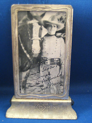 Tom Mix Picture in The Frame /  Circa 1930's
