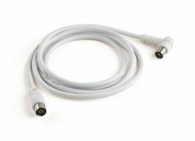 Meliconi Coaxial Aerial Cable Plug 90° Adapter M/M Included 2M