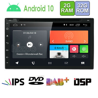 """HIZPO Quad Core Android 8.1 WIFI 7"""" Double 2DIN Car Radio Stereo DVD Player GPS"""