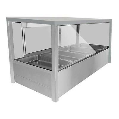 Countertop Hot Bain Marie Display, Square Heated Food Unit, Takes 8x 1/2 GN Pans