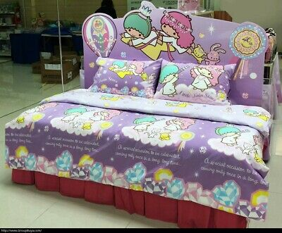 Sanrio Little Twin Stars Fitted Sheet Pillow Case Quilt Cover Bedding Rainbow