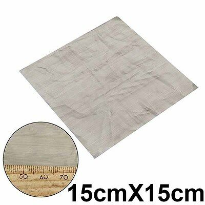 316 Stainless Steel 500 Mesh Woven Wire Mesh Filter Screen Square Sheet 15x15cm