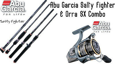 Abu Garcia Salty Fighter 7' 2-4 Kg 2pc Fishing Rod  AND Orra 2 SX20 Reel Combo
