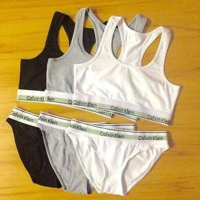 Calvin Klein Ladies Bralette And Brief/tag With Box