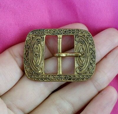 ♡ (777) Vintage Estate MADE IN CZECHOSLOVAKIA Brass Buckle Lovely Condition