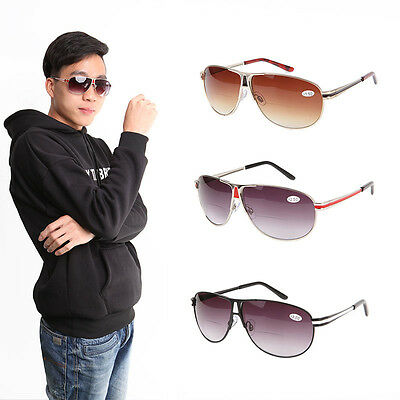 Fashion metal Reading Glasses Gradient Sunglasses Readers  +1.0 to +3.5