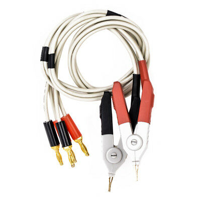 LCR Meter Low Resistance Test Leads Banana Plug Clip Cable Terminal Probe Wire