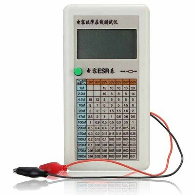Portable Digital Capacitor ESR Tester Internal Resistance Meter Test In Circuit
