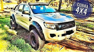 FORD RANGER PX1 2011-2014 JUNGLE FENDER FLARE KIT BLACK freeship MEL SYD AD MTRO
