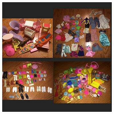 Barbie Mattel 1970s, 80s, 90s Vintage Accessories, Clothes, Shoes, and Furniture