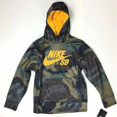 arriving great look thoughts on NIKE SB THERMA Fit Boys Camo Iguana Green Skate Hoodie ...