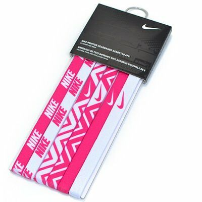 NIKE Printed Headbands Assorted 6PK / One Size , Pink x White