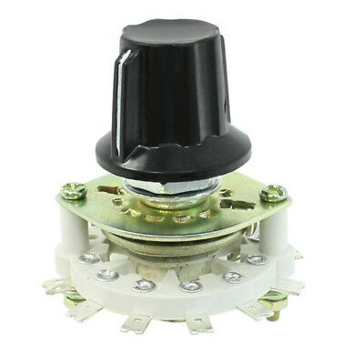 Plastic Knob 1P6T 1 Pole 6 Throw Band Channel Rotary Switch Selector F6