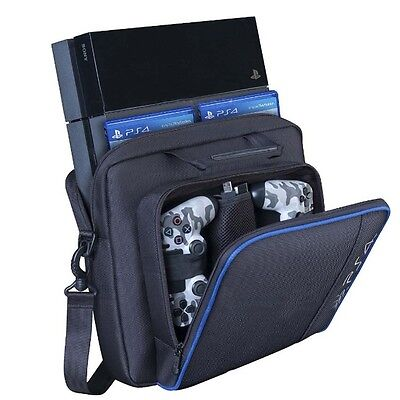 UK New Carrying Bag For Sony PlayStation4 PS4 Multi-functional Travel Carry Case