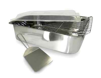 Roaster with Cover Rack and Spatula ExcelSteel Set of 4 Piece Stainless Steel