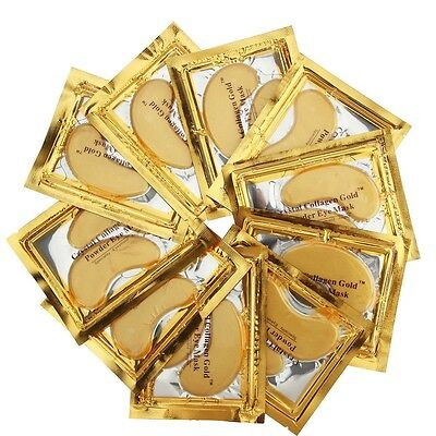 30 x Pairs GOLD Collagen Crystal Eye Mask Anti Ageing Wrinkles Bags Dark Circles