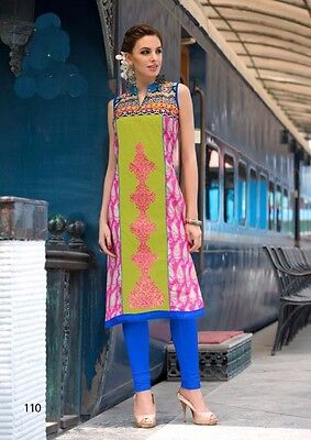 Kurta Kurti Top- Embroidered