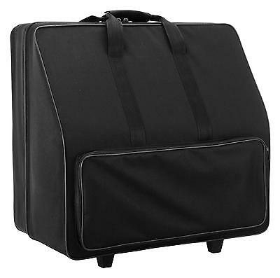 Sac Housse Trolley Flight Case Pour Accordeon 120 Basses Roulettes Poignee Noir