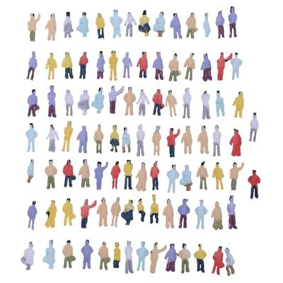 New 100pcs Painted Model Train People Figures Scale N (1 to 150) F6