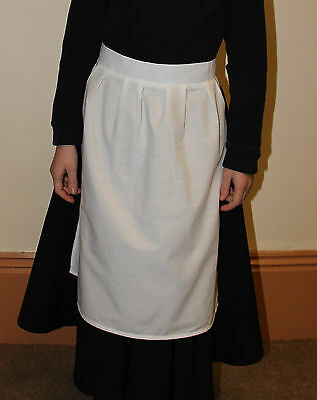 Victorian White Maids Apron Fancy Dress Childs and Adult sizes VINTAGE RETRO
