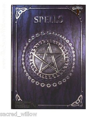 Purple Pentagram Spell Book 17.5 x 12.5cm Luna Lakota Journal Book of Shadows