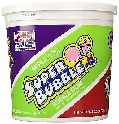Super Bubble Gum Assorted Flavors 54 Ounce Tub 54 Ounce Box