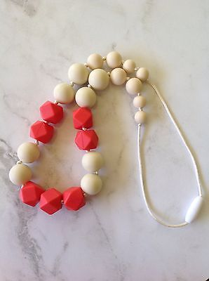Silicone Teething Necklace-Coral