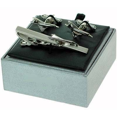 Onyx-Art Concorde Tie Bar and Cufflinks Gift Set