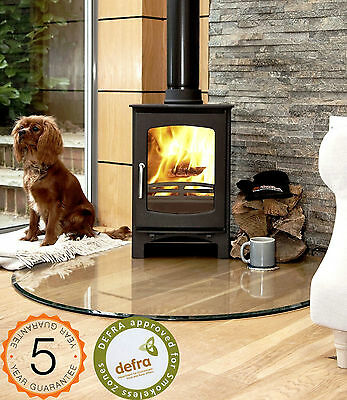 5kw Defra Approved Ecosy+ Curve Woodburning Multi-Fuel Stove Stoves Smoke Exempt