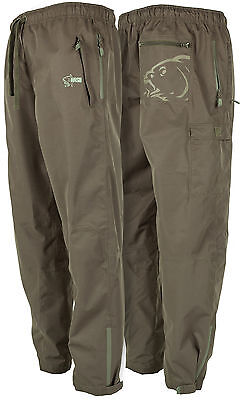 Nash Carp Fishing Moisture Wicking 100% Waterproof Trousers M, L, Xl, Xxl, Xxxl