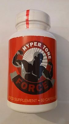 Hyper Tone Force Muscle Growth Body Building Supplement 60 Capsules New Sealed