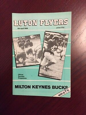 Luton Flyers v Milton Keynes Bucks 1986 American Football Programmes 16 pages