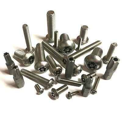 M3 M4 M5 M6 M8 M10 Torx Button Head Security Screws, Stainless Anti-Vandal Bolts