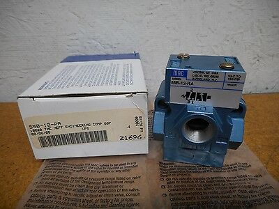 MAC Valves 55B-12-RA Pneumatic Valve New In Box