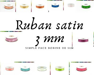 50 metres de ruban satin 3 mm de large en satin mariage scrapbooking couture