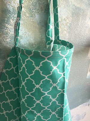 NEW  >NURSING COVER  hider* BREASTFEEDING COVER Up Chevy White Teal print
