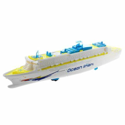 Ocean Liner Cruise Ship Boat Electric Toy Flashing LED lights sounds kids F6