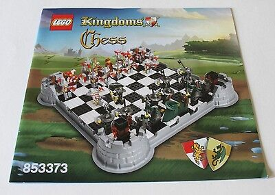 *MANUAL* LEGO Kingdoms Chess (853373) Parts Replacement Instruction Booklet OEM