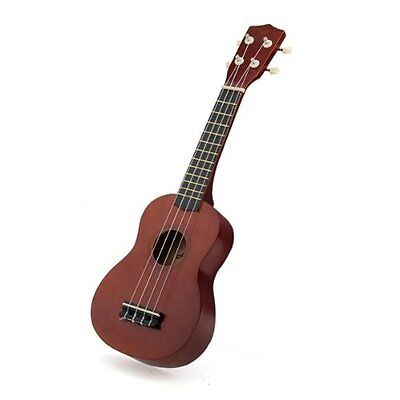 Color Brown 21 Inch Soprano Ukulele Musical Instrument New  F6