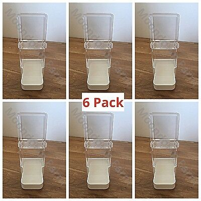 6x Bird Feeder/Water Drinker Seed Clipper Fountain Cage Parrot Cockatiel Finches