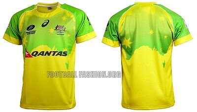 Australia Rugby Sevens mens homes 2016 Jersey