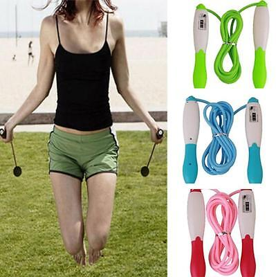 Sport Gym Jump Skipping Rope Counter Fitness Digital LCD Calorie Timer Exercise