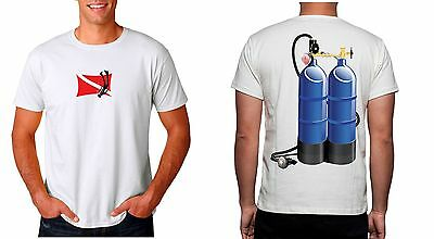 Scuba Twin Cylinder Fun Diving T-Shirts Dtg/screenprinting